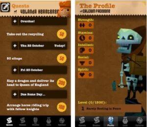 pantallas del juego gamificado agenda epicwin